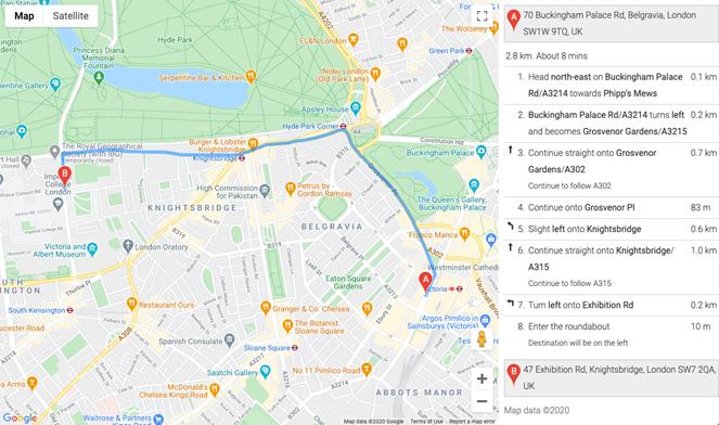wskazowki google maps
